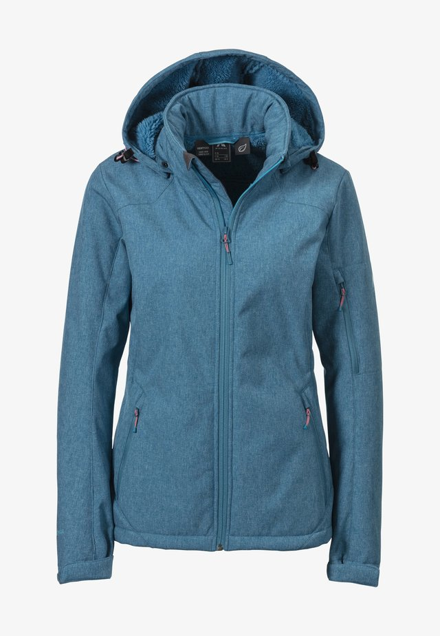 Soft shell jacket - melange/blue