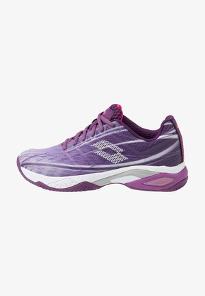 MIRAGE 300 CLY  - Clay court tennis shoes - charisma violet/all white/funky pink