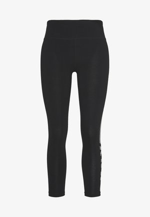HIGH WAIST TRACK LOGO - Leggings - black/white