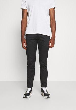 SLHSTRAIGHT FLEX PANTS - Chino kalhoty - black