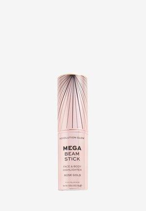 REVOLUTION GLOW MEGA BEAM STICK - Highlighter - rose gold