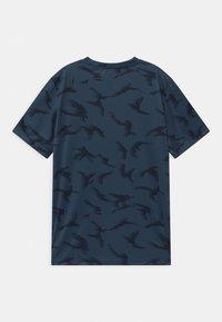 adidas Performance - UNISEX - Print T-shirt - crew navy/solar yellow - 1