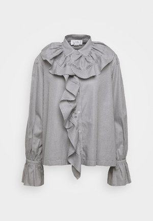 RUFFLE SHIRT - Bluser - white/grey