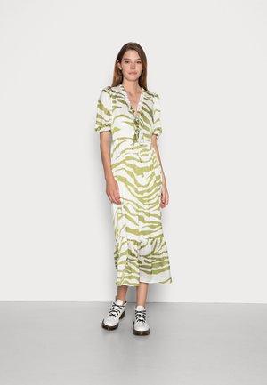 ZEBRA MIDI DRESS - Day dress - green