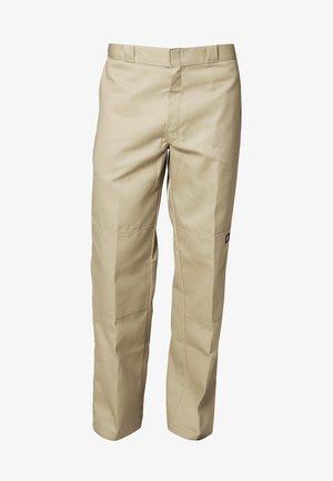 DOUBLE KNEE WORK PANT - Pantaloni - khaki