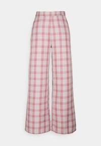 Missguided Petite - GINGHAM BRALET AND WIDE LEG SET - Top - pink - 3