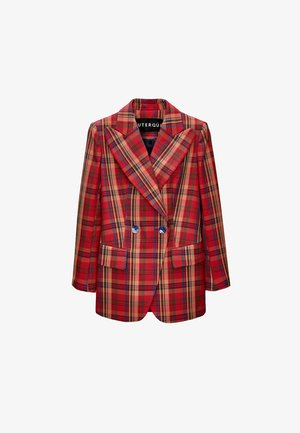 WITH LAPEL COLLAR  - Blazer - red