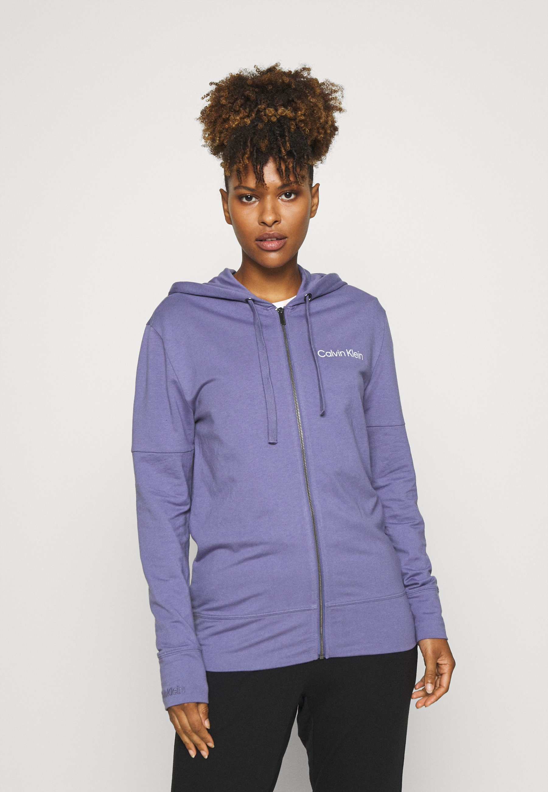 Women MODERN STRUCTURE FULL ZIP HOODIE - Pyjama top