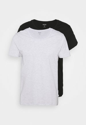 SCOOP 2 PACK - T-shirt basic - black/grey