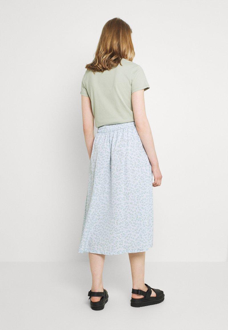 Monki - SIGRID BUTTON SKIRT - A-line skirt - blue dusty light