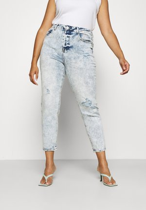 BUTTON FLY DISTRESSED MOM - Relaxed fit jeans - acid bleach
