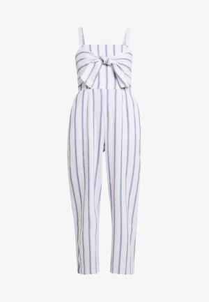 TIE FRONT - Overall / Jumpsuit - white