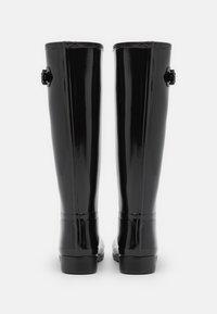 Hunter ORIGINAL - REFINED TALL GLOSS VEGAN - Holínky - black - 2