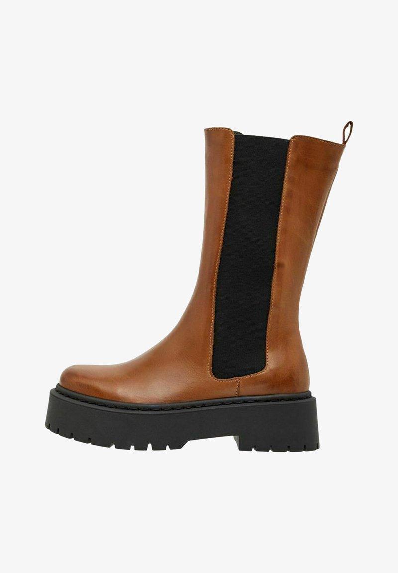 Bianco - BIADEB  - Platform boots - cognac