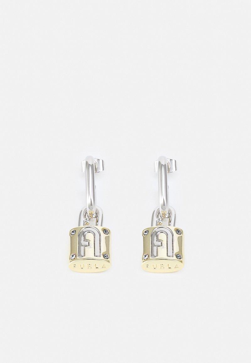 Furla - FURLA PIPER PADLOCK EARRINGS - Earrings - silver-coloured