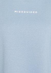 Missguided - BASIC OVERSIZED - Sweatshirt - powder blue - 2