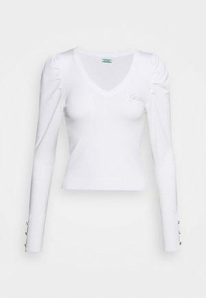 CAROLE V-NECK - Strikkegenser - true white