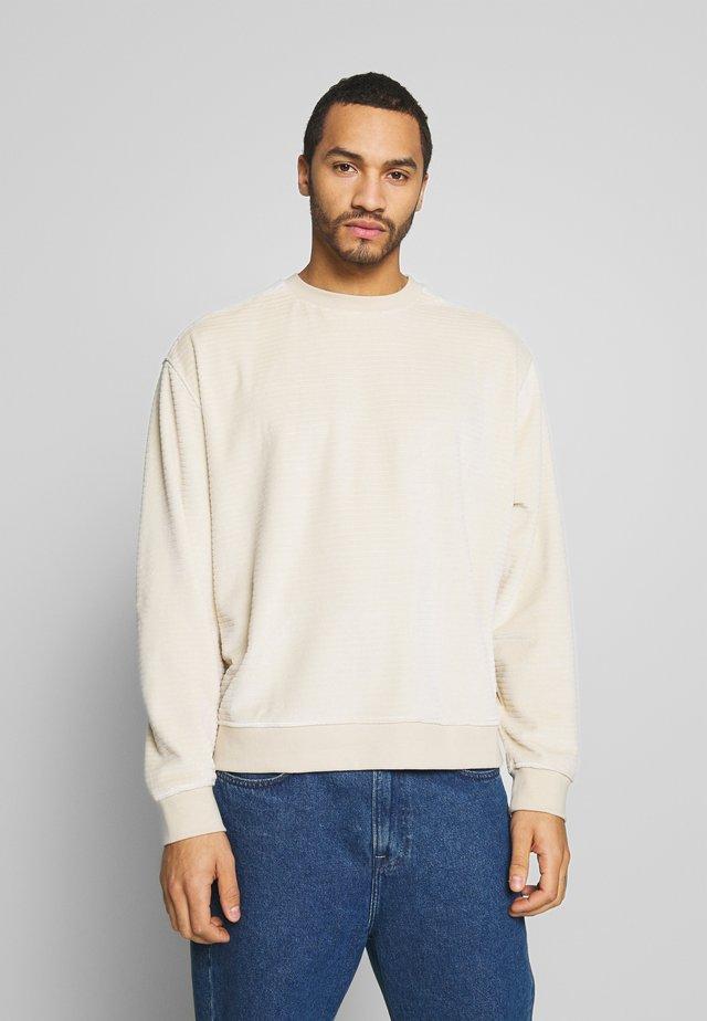 UNISEX CREW - Sweater - stone