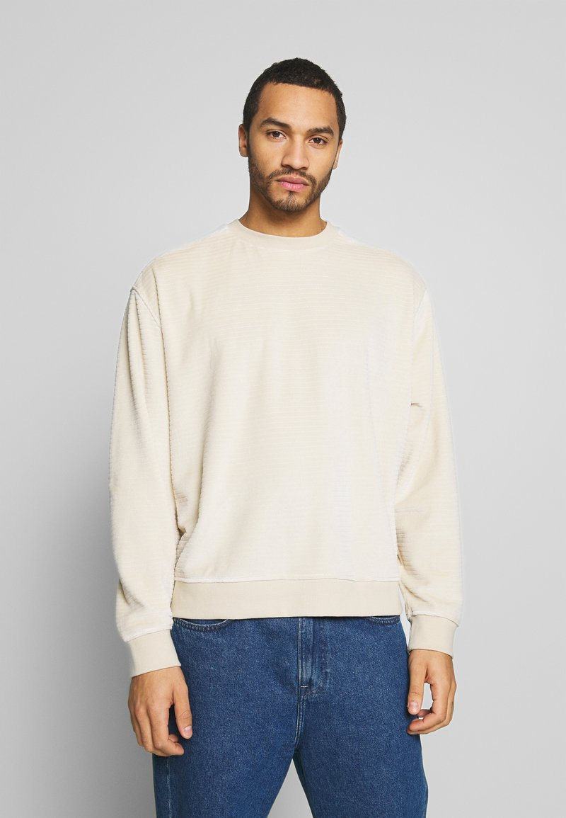 Topman - UNISEX CREW - Sweatshirt - stone