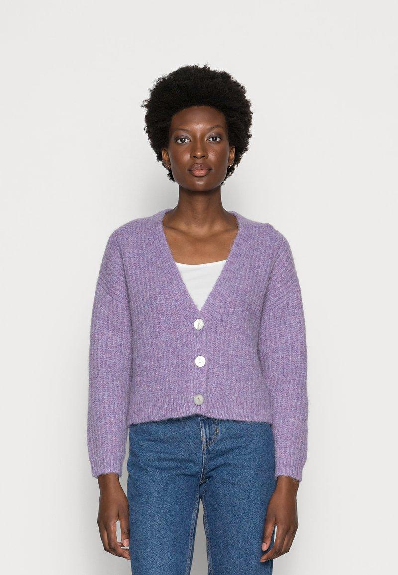 Zign - WOOL BLEND JUMPER - Cardigan - lilac