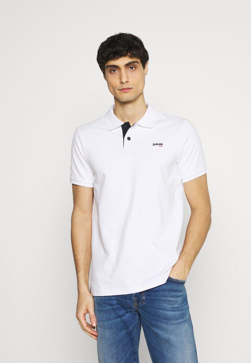 Schott - PSMILTON - Polo shirt - white/navy