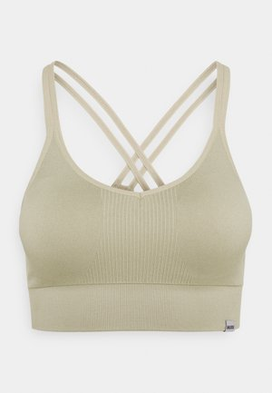 SEAMLESS BRA  - Light support sports bra - grau