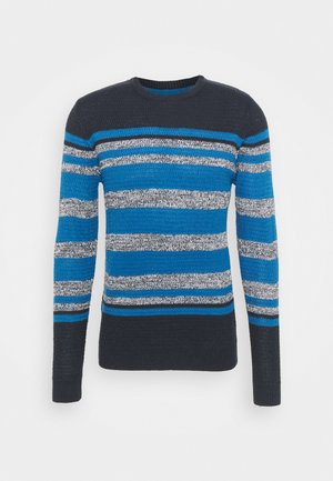 Jumper - french navy/ vintage white/ steel blue