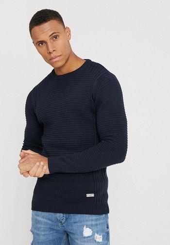 LINEAR - Stickad tröja - dk navy