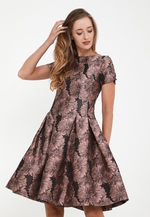 KRISTI - Cocktail dress / Party dress - dunkelrosa, schwarz