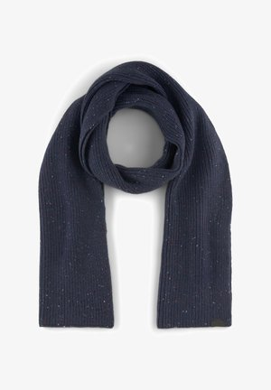 Scarf - navy  multi nep yarn