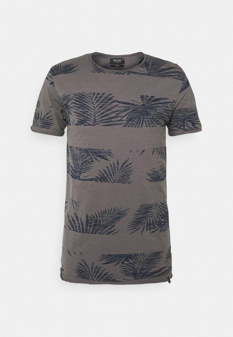 INDICODE JEANS - ALLEN - Print T-shirt - pewter