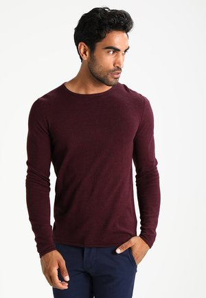 BASIC - Jersey de punto - bordeaux