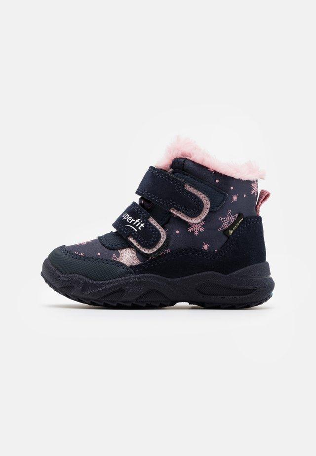 GLACIER - Winter boots - blau/rosa