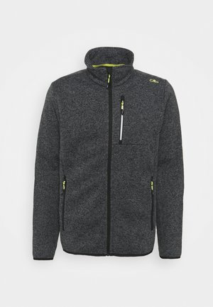 MAN JACKET - Fleecová bunda - grey/antracite