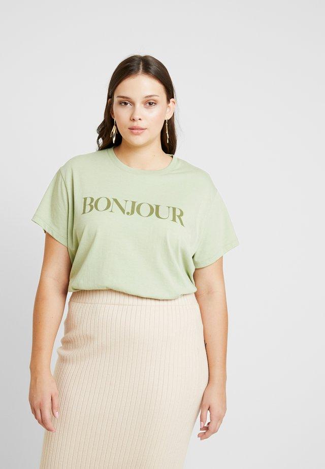 GRAPHIC TEES - T-shirt z nadrukiem - reseda