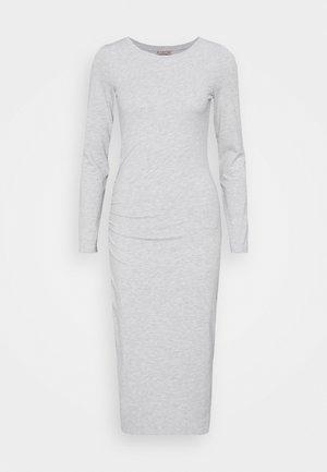 Sukienka etui - mottled light grey