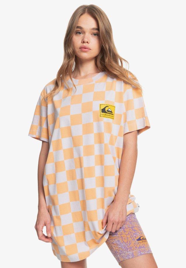 Print T-shirt - chamois checker polo