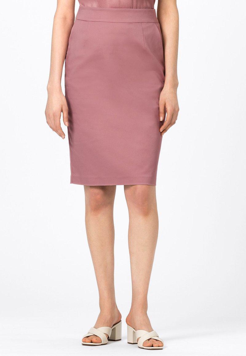 HALLHUBER - LETIZIA - Pencil skirt - rosenquarz