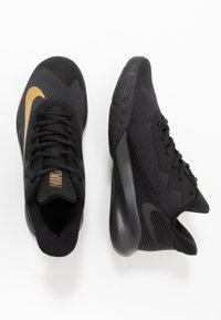 Nike Performance - PRECISION IV - Basketball shoes - black/metallic gold/dark smoke grey - 1