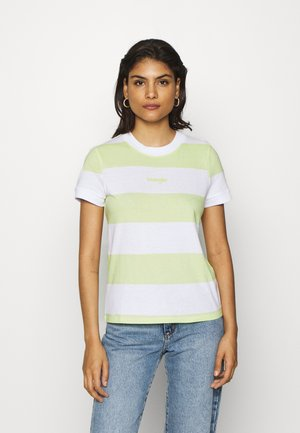 STRIPED HIGH - Print T-shirt - lime sherbet