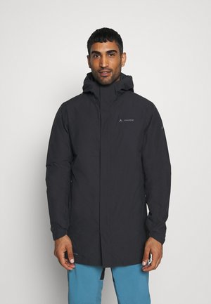 MENS CYCLIST PADDED COAT - Halflange jas - black
