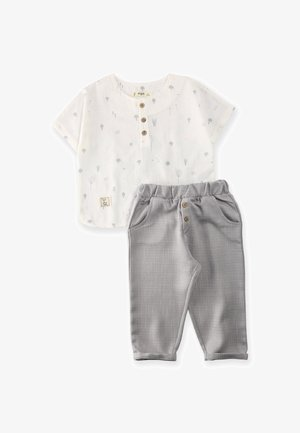 SET - Trousers - grey/white