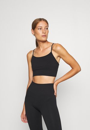 LIGHT SUPPORT - Light support sports bra - black dark