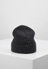 Knowledge Cotton Apparel - LEAF HAT UNISEX - Muts - dark grey - 3