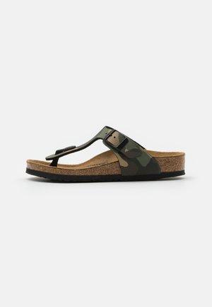 GIZEH KIDS - T-bar sandals - desert soil/khaki