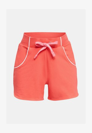 SWEAT-SHORTS MIT PASPELN - Shorts - coral