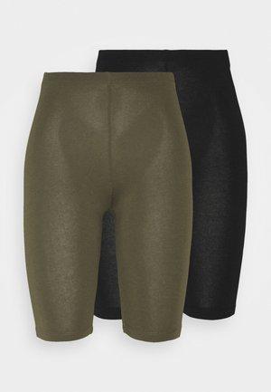 ONLLIVE LOVE CITY 2 PACK - Shorts - black/kalamata
