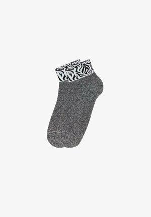 MIT KONTRAST - Socks - aufdruck - 9254 - polso zebra nero