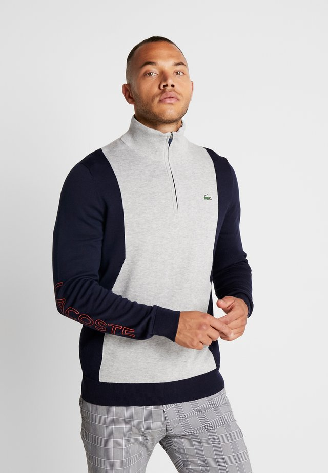 Pullover - silver chine/navy blue/gladiolus