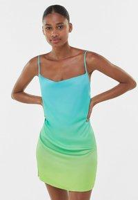 Bershka - Robe d'été - turquoise - 0